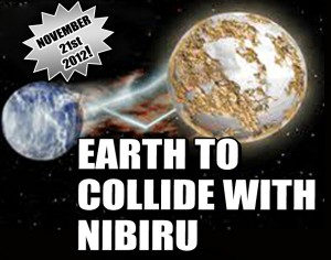 All evidence to the contrary, the Weekly World News article by Frank Lake boldly predicts that Nibiru is to collide with Earth on November 21, 2012.