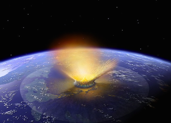 Asteroid impact. Image via NASA.