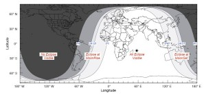 Worldwide eclipse map courtesy of NASA Eclipse Web Site