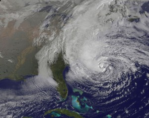Hurricane Sandy on October 28, 2012