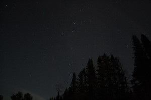 Night sky photo showing Cassiopeia and Perseus