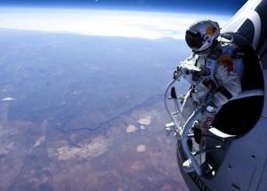 Felix Baumgartner before his jump