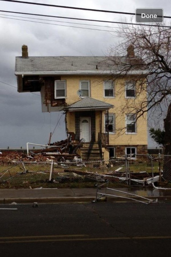 In 2012, Hurricane Sandy destroyed this house in Jersey Shore, New Jersey.  Image via Shayna Marie Meyer
