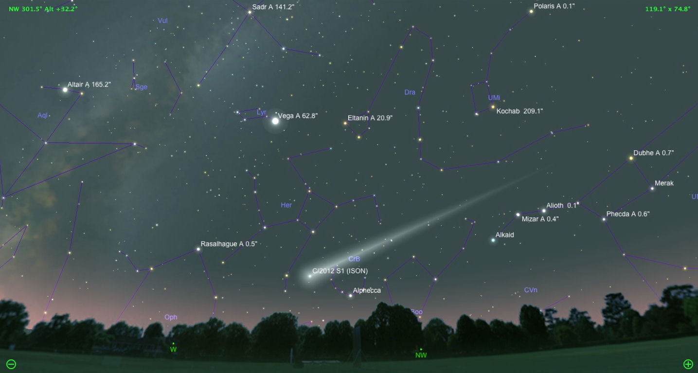 la llegada anunciada del cometa ison . un preludio de nuestra era? ISON18thDec5pm