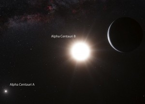 Artist's concept of Alpha Centauri B and planet