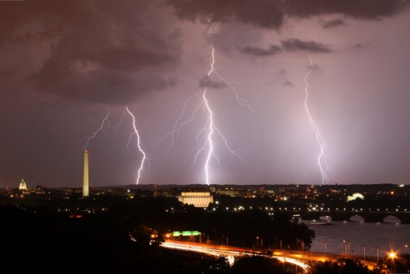 Arlington, Virginia, looking towards Washington DC. September 1, 2012. Photo credit: Brian Allen