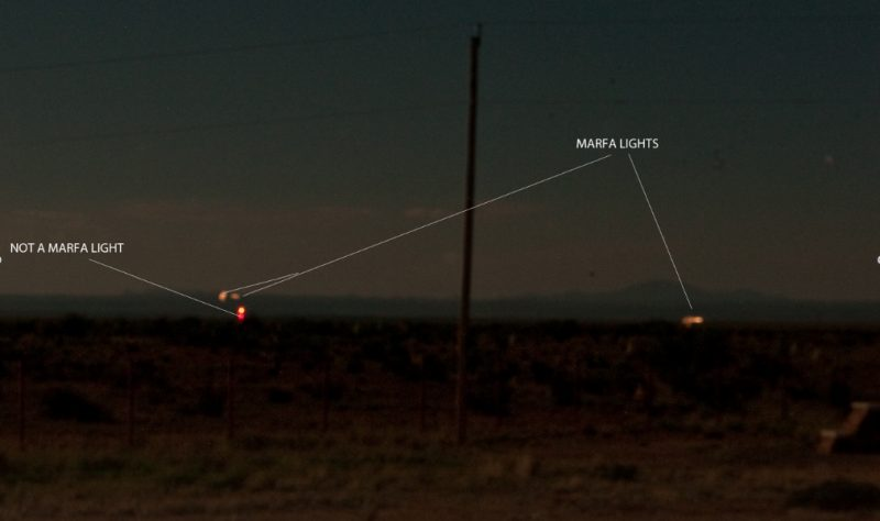 Marfa lights - or not - from papiblogger.com.