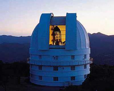 McDonald Observatory Otto Struve Telescope, completed in 1938.  I saw my first Marfa lights from the catwalk of this telescope dome, which, by the way, is a not un-creepy place to be alone at 3 a.m.  No offense, Otto.