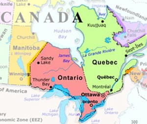 Map Of Ontario And Quebec Canada Map Of Ontario And Quebec Canada | Twitterleesclub
