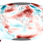 Temperature anomalies in October 2012 via NOAA