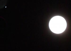 Jupiter (left) and moon Nov. 28, 2012 via Craig Hicks
