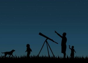 Stargazing is family fun.  Image via Shutterstock