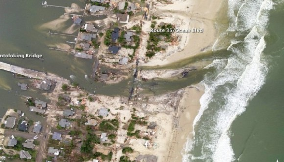 Jersey coast after Sandy struck the shore. Image credit: NOAA