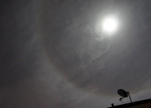 Moon halo October 29, 2012 via Nathan Harrison in U.K.