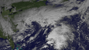 Nor'easter developing across the Northeast on November 7, 2012. Image Credit: NOAA