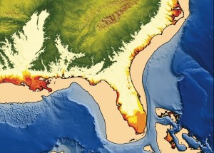 Past and possible future changes in sea level.