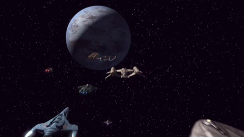 Fictional planet Ceti Alpha V via Wikia.  In reality, no planets are known for the star Alpha Ceti ... yet.