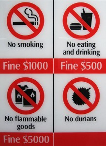 Fine, smoke if you must, but please, for the love of God, NO DURIANS. Image: furibond.