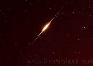 Possible iridium flare via Simon Waldram