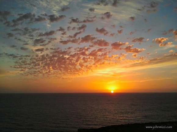 EarthSky Facebook friend John Michael Mizzi saw this sunset from the island of Gozo (Malta), south of Italy.