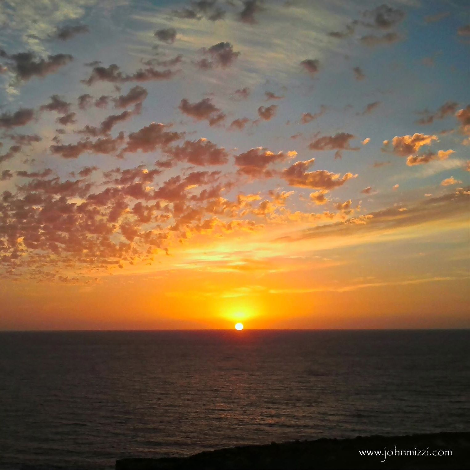 Sunset on Gozo (Malta) by EarthSky Facebook friend John Michael Mizzi.