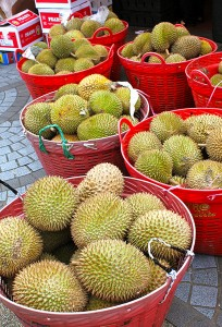 Durians for sale. Image: variationblogr.