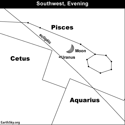 Uranus pair up in Pisces the Fishes on January 16 | Tonight | EarthSky