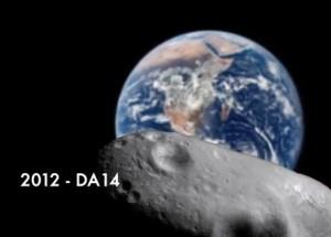 Asteroid 2012-DA14 - Artist's concept via NASA