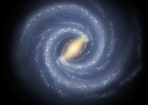 Artist's concept of Milky Way's intricate spiral structure