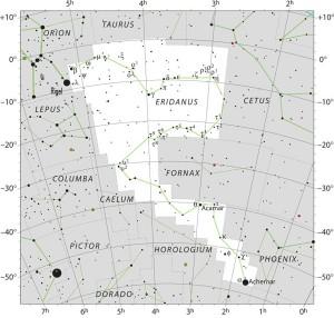 The constellation Eridanus the River. Click here for a larger chart