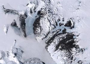 Segment of Landsat Image Mosaic of Antarctica