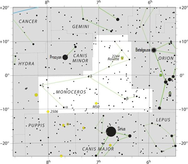 Constellation chart.