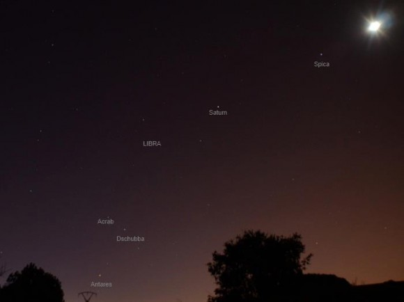 EarthSky 22: Full moon, planet Saturn, star Spica | Space ...