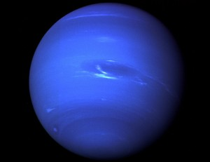 The planet Neptune as seen by Voyager 2 in August 1989. Image credit: The bad Astronomer