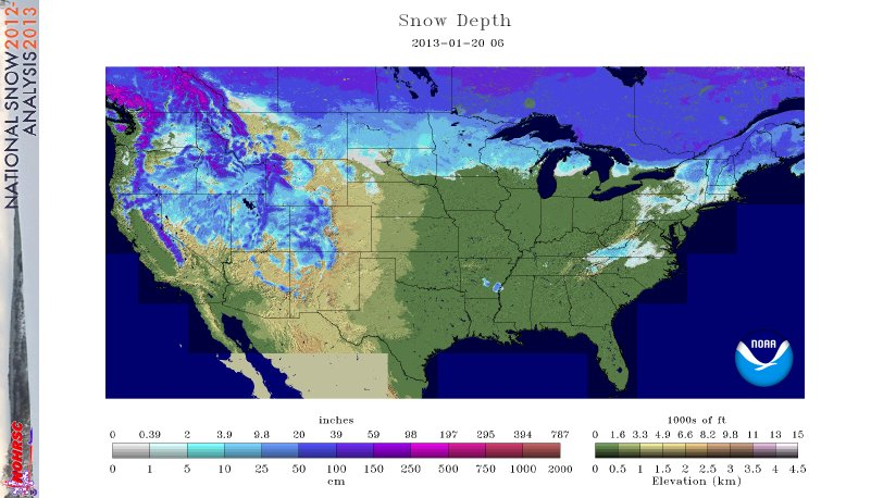 2012 2013 Winter In The United States Earth Earthsky - Us-snow-belt-map