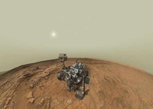 Curiosity self-portrait Feb. 3, 2013 via NASA