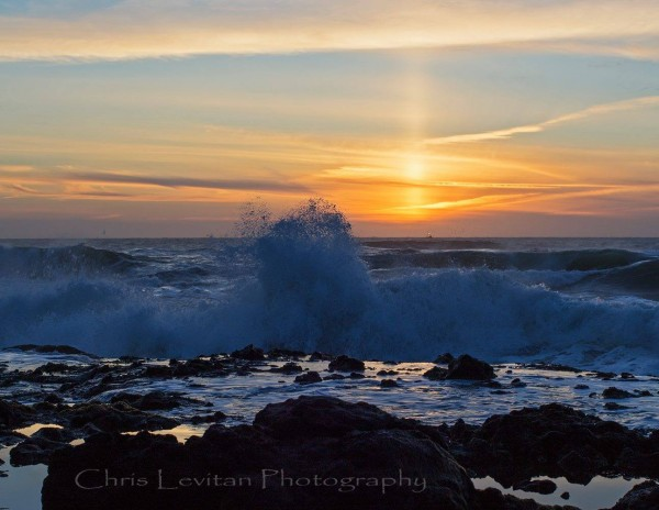 Another shot of the beautiful sun pillar seen on March 20, 2016, from the U.S. West Coast.  This one is from Chris Levitan Photography.  Thanks, Chris!