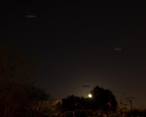 Moon and Saturn on March 29, 2013