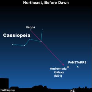 Comet PANSTARRS before dawn
