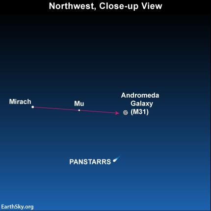Mirach and the Andromeda galaxy
