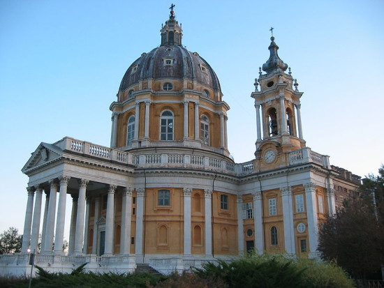 Basilica of Superga in Turin, Italy via Wikimedia Commons.