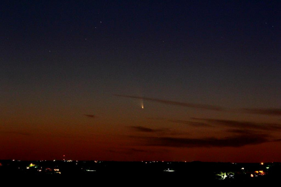 Photo of Comet PANSTARRS taken by Garry Snow on March 14, 2013, at Canyon Lake, AZ.Thank you Garry! Click here for a larger view