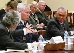 John Holdren speaks with NASA administrator Charles Bolden. Image courtesy of http://science.house.gov/