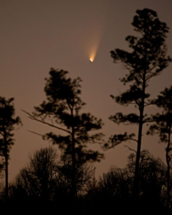 EarthSky Facebook friend Ken Christison captured this photo of PANSTARRS on March 19. He wrote,