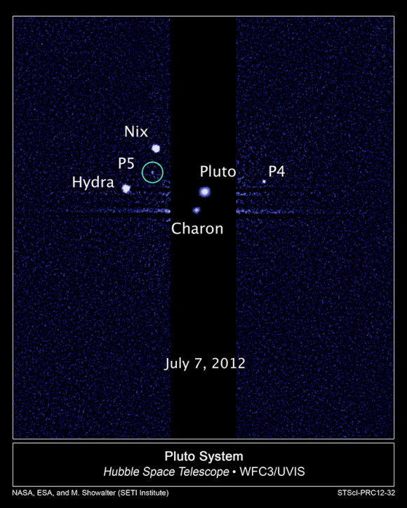 Two newly discovery moons of the planet Pluto may receive names voted on in a contest organized by the SETI Institute.