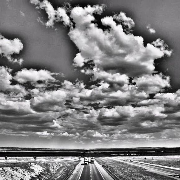 From a bridge over Route 66, somewhere in Texas. Photo by EarthSky Facebook friend Aidan Sean Angus.