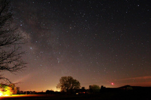 Constellation Scorpius and the star Antares