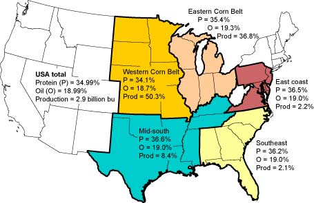 A study in the U.S. western corn belt suggests that land being converted to corn crops is threatening native ecosystems. Map via AgBioForum.