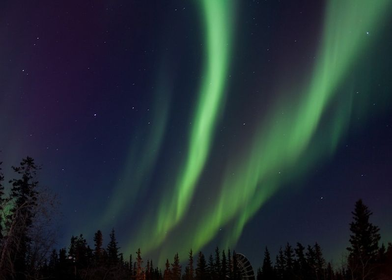 March 17, 2013 aurora photographed by Chris Schuler in Ft. Yukon, Alaska. David Schuler wrote in his beautiful blog Gwichyaa Zhee,