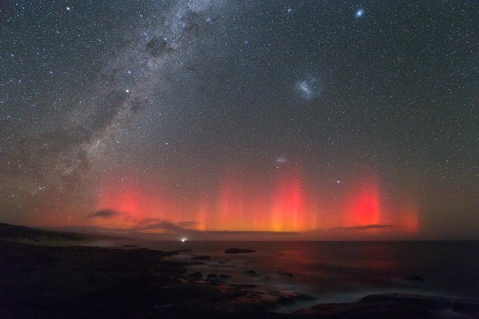 March 17, 2013 aurora as seen from Australia via Colin Legg. View larger.